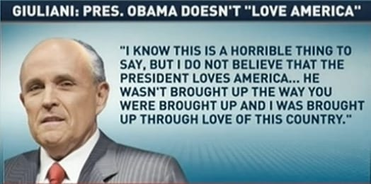 GIULIANI pres. obama doesn't live america