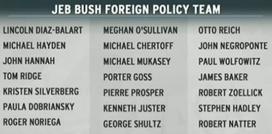 jeb bush foreign policy team