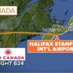 Air Canada Airbus A320 Skids off Halifax Runway