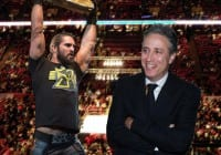 Jon Stewart kicks WWE's Seth Rollins in the nuts [VIDEO]