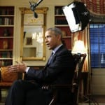 U.S. President Obama speaks during an interview with Reuters at the White House in Washington