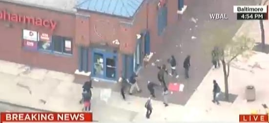 Baltimore CVS Being looted