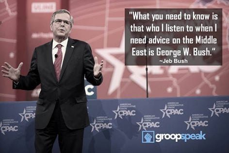 Jeb bushs top advisor is George W Bush