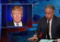 Jon Stewart Democalypse 2016 Becoming a Fire Hazard Trump might jump in and jon considers not retiring