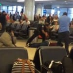 Police use taser on man at Los Angeles airport
