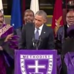 Pres. Obama sings Amazing Grace at Clementa Pinckneys Funeral VIDEO