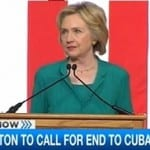 hillary clinton calls for end to embargo
