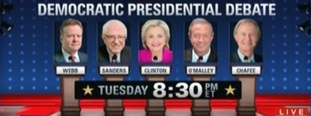 Democratic Debate Night TUESDAY - Watch Live Here