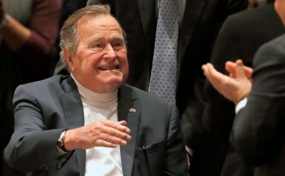 George HW Bush -The reaction to 911, what to do about the Middle East. Just iron-ass