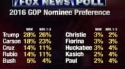 Trump On Top, Carson Slips, Cruz And Rubio Rise In New Poll [VIDEO]