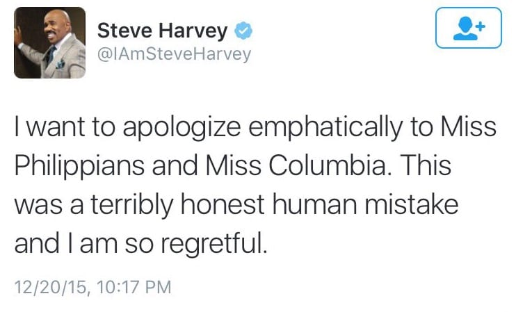Steve Harvey Named Wrong Miss Universe [VIDEO