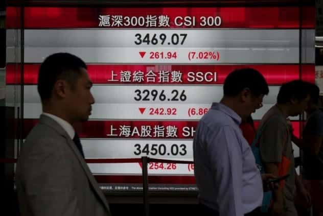 Chinese Markets Halt Trading After Shares Plunge