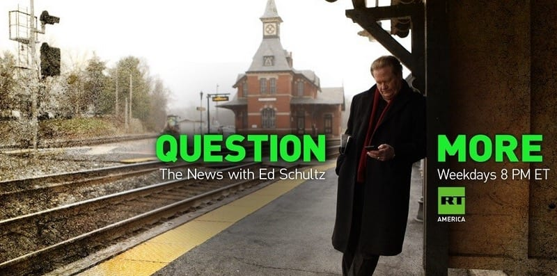 Ed Schultz Returns to Primetime on RT America 8pm Weekday