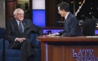 Bernie Sanders Explains To Colbert Why He's Different From Trump