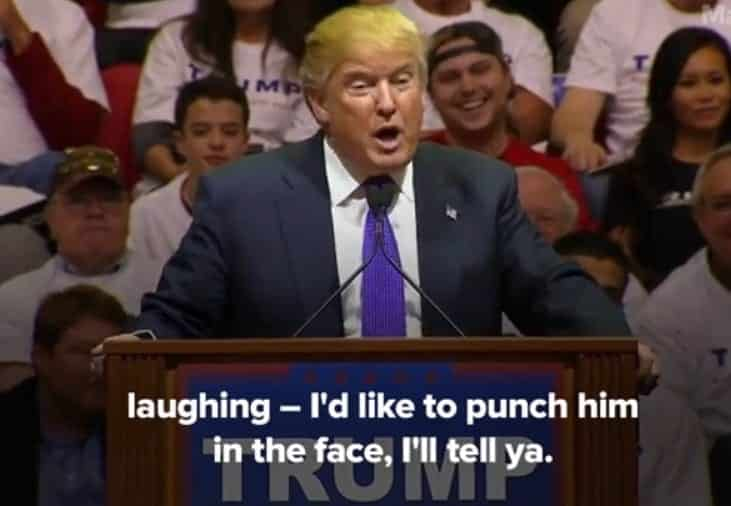 trump punch in face