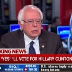 Bernie Sanders Says Will Vote For Hillary Clinton In November