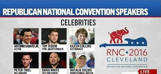 Republican National Convention Speakers Complete List