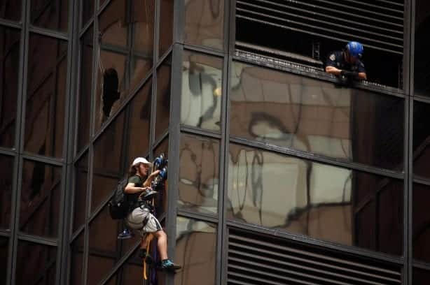 A Man Scaled Trump Tower In Manhattan Using Suction Cups