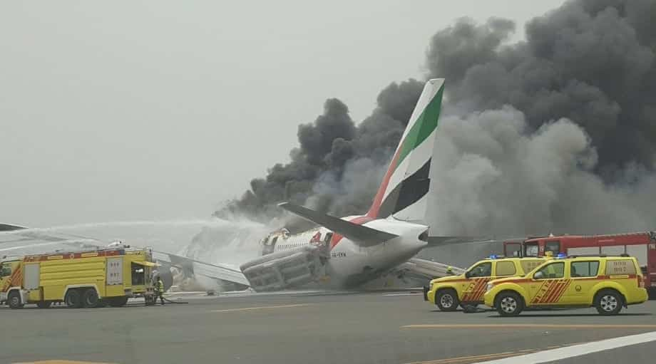 Airplane Bursts Into Flames After Landing In Dubai