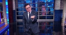 Colbert 'Dammit, Anthony, just keep it in your pants until after the election!'