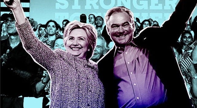 Hillary Clinton, Tim Kaine campaigning in Cleveland on Labor Day