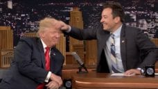 Jimmy Fallon Mess up Trump's Hair On Late Night TV