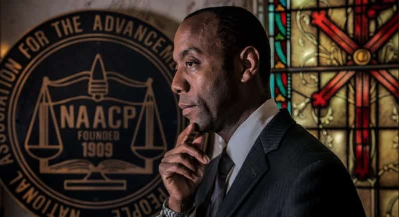 NAACP President Arrested After Sit In To Protest Trump