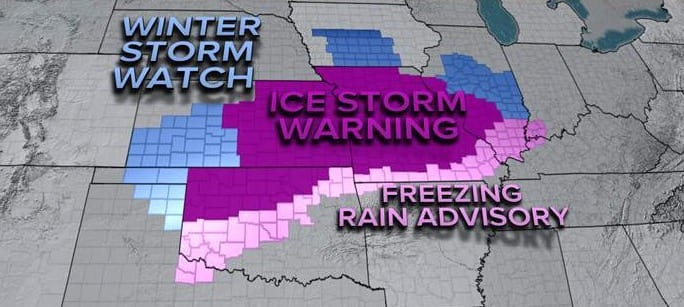 Widespread Ice Storm Coats Midwest This Weekend