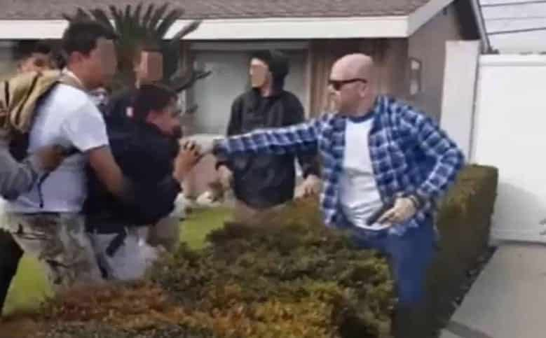 Protests At Anaheim Over Cop Pulling Gun On Kids