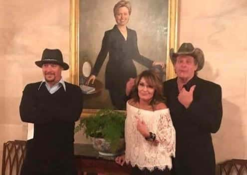 Ted Nugent Kid Rock Sarah Palin Visit To The White House