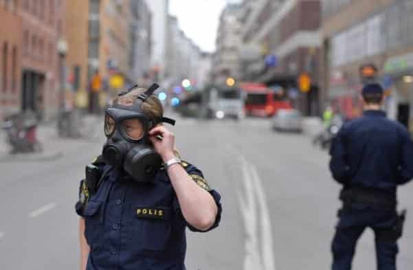 Truck Driven Into a Crowd in Stockholm Injuring Several