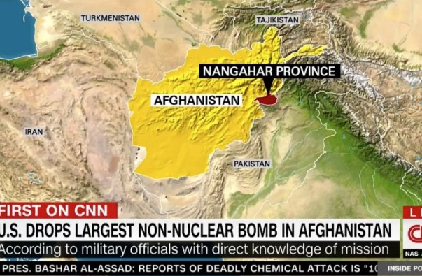 US Drops Largest Non Nuclear Bomb In Afghanistan