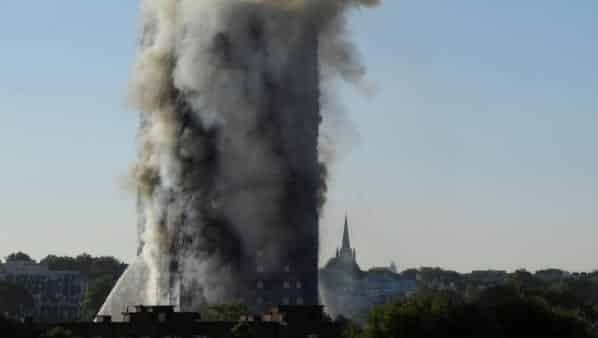 6 Dead as Massive Fire Rips Through 24 Story London Tower