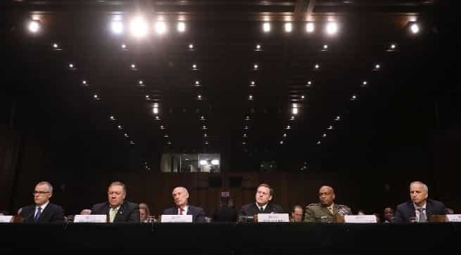 Coats Rogers Rosenstein McCabe Are Testifying Today At Senate Intel