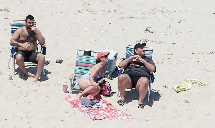 Chris Christie Under Fire After Lounging At Beach Closed In Shutdown
