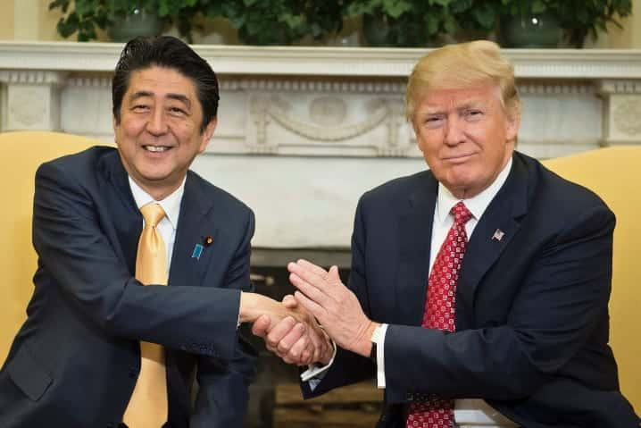 Trump Abe Discuss North Koreas Grave And Growing Threat