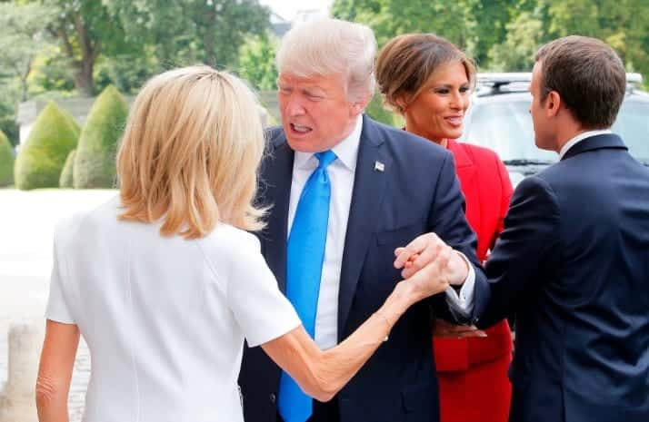Trump to Brigitte Macron You Know Youre In Such Great Shape... Beautiful