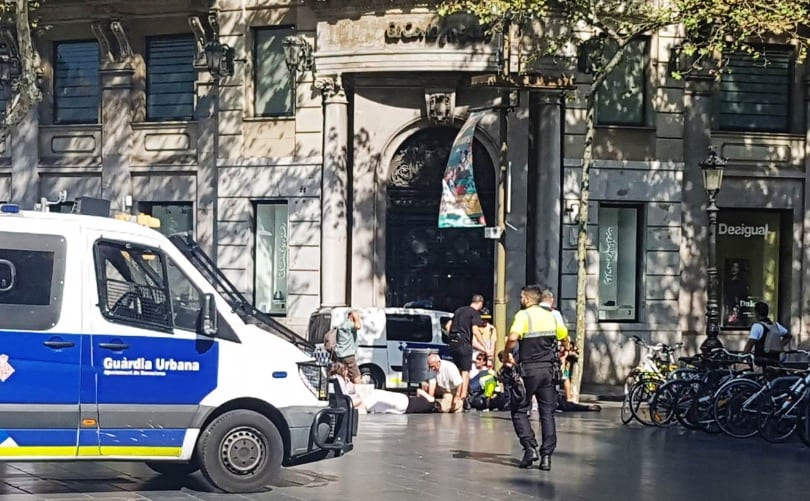 Van Hits Crowd In Barcelona And Several People Are Injured