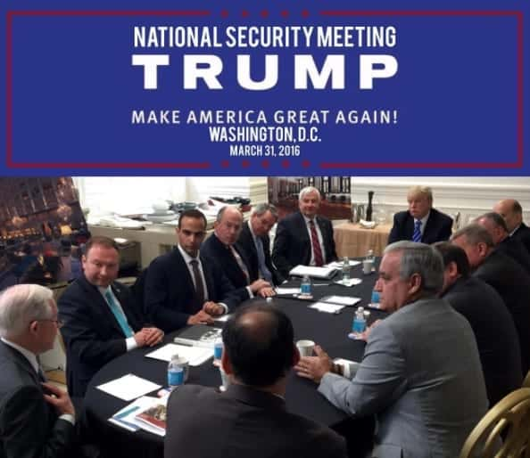 shows George Papadopoulos third from left