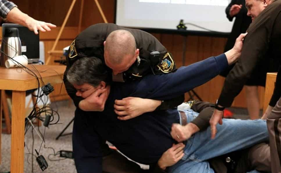 Father Of 3 Victims Lunges At Larry Nassar In Court Before Being Restrained