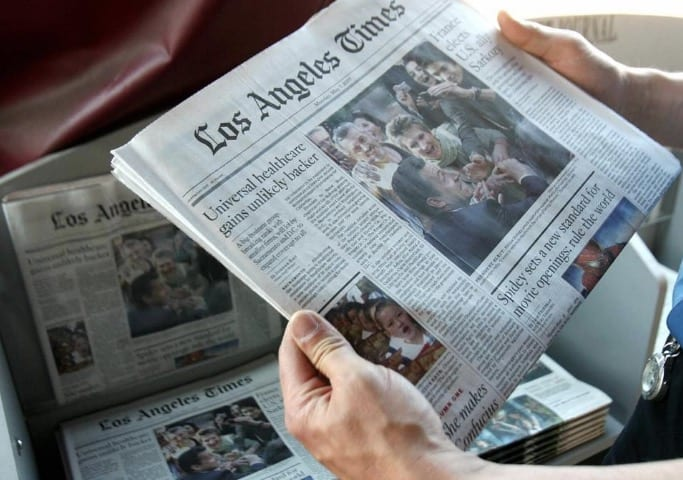Tronc Agrees To Sell Los Angeles Times For 500 Million