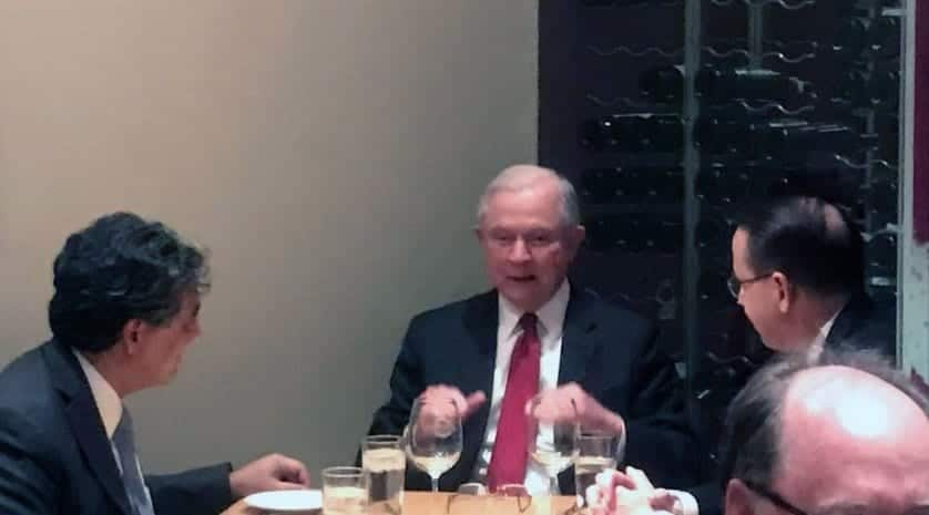 Sessions Dines With Rosenstein Hours After Trump Called Him 'Disgraceful'