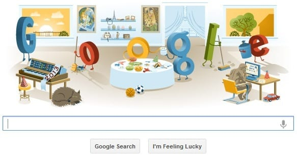 New Year's Day 2013 Google Shows Post-New Year Party With Doodle