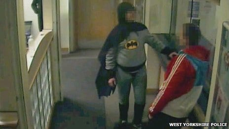 'Batman' Delivers Wanted Man To Police In England