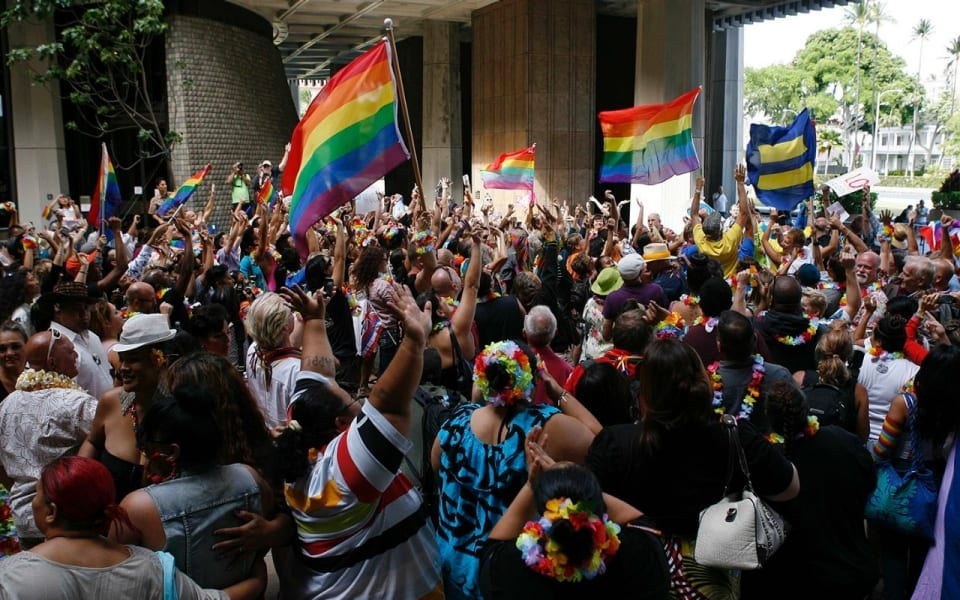 Hawaii to become 16th state to legalize same-sex marriage