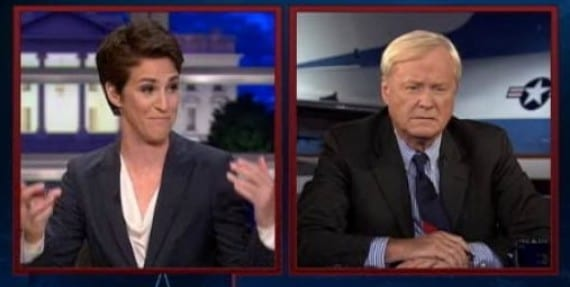 Matthews Beats Maddow in Total Viewers on MSNBC