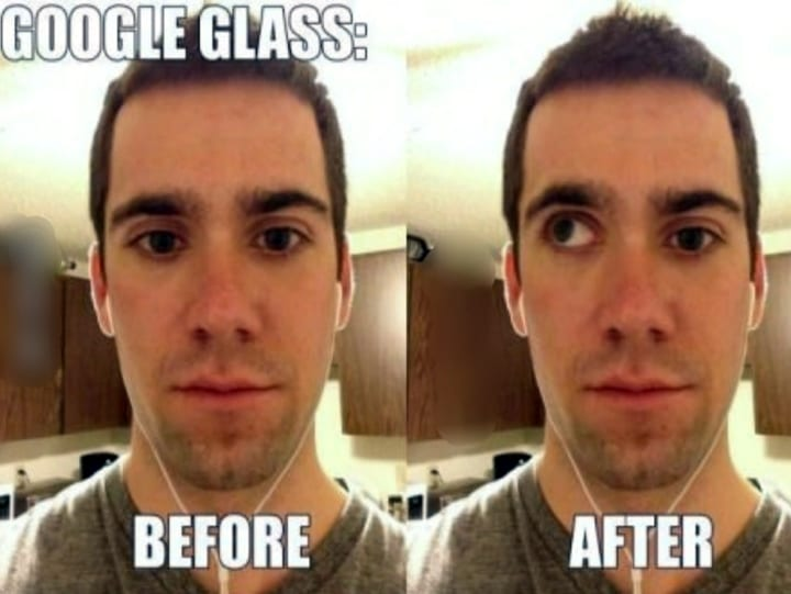 Man Addicted to Google Glass