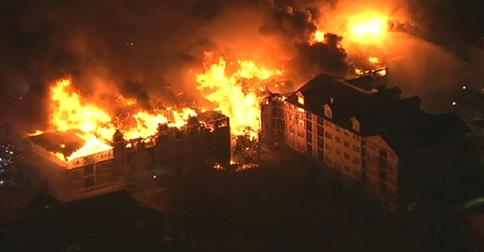 State of the emergency declared after fire in Edgewater, N.J