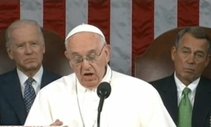 Pope Addresses Joint meeting Of Congress