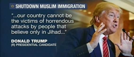 Trump Calls for a Ban of All Muslims From Entering USA